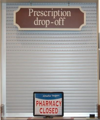 Pharmacy Counter Security Shutters